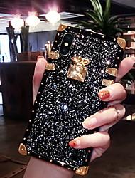 Недорогие -Кейс для Назначение Apple iPhone XS / iPhone XR / iPhone XS Max Сияние и блеск Кейс на заднюю панель Сияние и блеск Мягкий Силикон