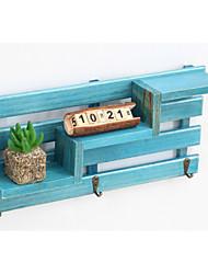 Недорогие -Коробка для хранения деревянный Обычные Аксессуар 1 полка Сумки для хранения домашних хозяйств