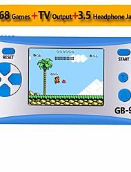 Недорогие -gb-9x портативная портативная игровая приставка для детей игровая приставка аркадная игровая приставка с 2.5 цветным ЖК-дисплеем и 168 классическими ретро-играми, встроенными в прекрасный подарок на