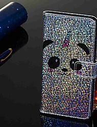 זול -מגן עבור Samsung Galaxy Galaxy A50(2019) / Samsung Galaxy A70 (2019) ארנק / מחזיק כרטיסים / עם מעמד כיסוי מלא פנדה קשיח עור PU ל Galaxy A7(2018) / Galaxy A9 (2018) / Galaxy A10 (2019)