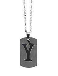 ieftine -Bărbați Pentru femei Argintiu X Coliere cu Pandativ Charm Colier Teak Alphabet Shape Vintage Încântător Argintiu 50 cm Coliere Bijuterii 1 buc Pentru Zilnic