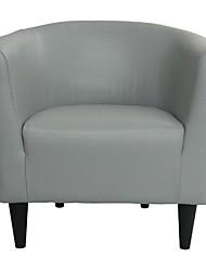 Недорогие -стул с мягкой обивкой из серой искусственной кожи клубный стул - сделано в сша