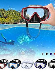 Недорогие -Маска для снорклинга подводный Два окна - Для погружения с трубкой Силикон - Назначение Взрослые Черный