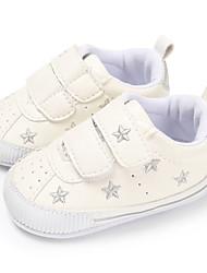 ราคาถูก -เด็กผู้ชาย / เด็กผู้หญิง PU รองเท้าผ้าใบ ทารก (0-9m) / เด็กวัยหัดเดิน (9m-4ys) สำหรับการเดินครั้งแรก สายรุ้ง / สีชมพู / Pink And White ฤดูใบไม้ผลิ / ตก