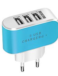 Недорогие -конфеты цвет 3 usb зарядное устройство путешествия зарядное устройство адаптер смарт-мобильный телефон зарядное устройство для планшетов
