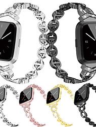 Недорогие -ремешок для часов для fitbit versa fitbit ювелирный дизайн браслет из нержавеющей стали ремешок из металла регулируемый сплав замена браслет