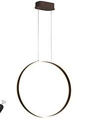 Недорогие -светодиодная современная люстра 30 Вт / кольцевая лампа для столовой кафе-бар, окрашенный алюминием / теплый белый / белый / с возможностью затемнения с пультом дистанционного управления / Wi-Fi