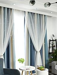 preiswerte -Moderne Verdunkelung zwei Panele Vorhang und Gardine Schlafzimmer   Curtains