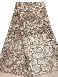 levne -Africké krajky Jednobarevné Vzor 125 cm šířka tkanina pro Zvláštní příležitosti prodáno podle 5Yard