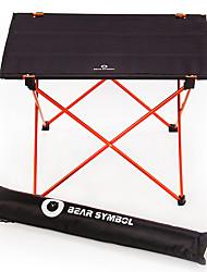 Недорогие -BEAR SYMBOL Туристический стол Легкость Алюминиевый сплав 7075 Очень тонкий Складной Полиэстер 1680D для Походы Осень Весна Черный / оранжевый Буле / черный