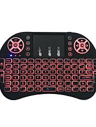Недорогие -miimall i8 usb проводная / беспроводная 2,4 ГГц мультимедийная клавиатура с подсветкой многоцветная подсветка 92 клавиши