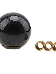 Недорогие -круглая форма шар черный углеродного волокна универсальный автомобиль ручка переключения передач ручка рычага переключения передач