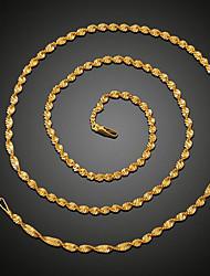 Недорогие -Муж. Ожерелья-цепочки Цепи Классический Классика Мода Медь Позолота Золотой 51,61 cm Ожерелье Бижутерия 1шт Назначение Повседневные Офис