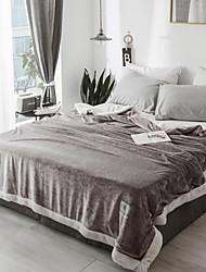 Недорогие -Многофункциональные одеяла, Однотонный Шерстяная ткань Мягкость одеяла