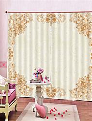 Недорогие -3d цифровая печать rococo уединение две панели занавес для спальни гостиной декоративные шторы