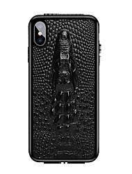 זול -מארז עבור iPhone 6 / iPhone xs max shockproof לכסות אחורית מוצק צבעוני עור אמיתי עבור iPhone 6 / iPhone 6 פלוס / iPhone 6s