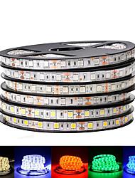 Недорогие -Loende 2pack DC 12 В светодиодные ленты 5050 smd 60 светодиодов / м черный печатной платы гибкий светодиодный свет водонепроницаемый RGB 5050 светодиодные ленты для украшения фона ТВ
