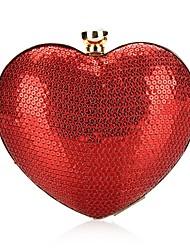 Недорогие -Жен. Пайетки / Блеск Сплав Вечерняя сумочка Сплошной цвет Красный / Наступила зима