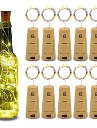 Недорогие -10 шт. 15-светодиодный 0.75 м медной проволоки бутылки пробка строка огни для стеклянной бутылки ремесла фея валентинки свадебные украшения партия