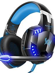 Недорогие -G2000 компьютер стерео игровые наушники лучший casque глубокий бас игры наушники гарнитура с микрофоном светодиодный свет для ПК геймер