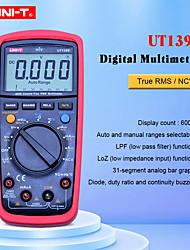 Недорогие -цифровой мультиметр uni-t ut139e автоматический диапазон истинный среднеквадратичный расходомер ручной тестер фильтра низких частот lff входной сигнал низкого входного сопротивления