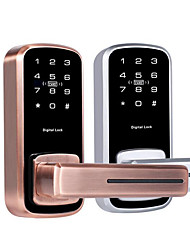 Недорогие -новейшая электронная блокировка пароля блокировка крытый деревянная дверь пароль блокировка карты блокировка одного языка электронная блокировка пароля
