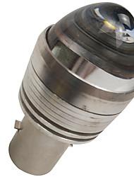 Недорогие -отолампара супер легкость dc 6v-12v фара мотоцикла светодиодная лампа ba20d белого цвета