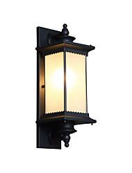 Недорогие -водонепроницаемый настенный светильник для двора / настенный светильник в стиле ретро / настенный светильник для наружного освещения / для наружного освещения из алюминия