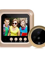 Недорогие -2,4-дюймовый цифровой интеллектуальный электронный визуальный кошачий глаз дверной звонок поддержка видеокамеры ночного видения большой угол обзора