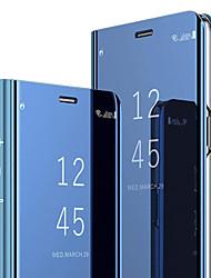 Недорогие -Кейс для Назначение SSamsung Galaxy S8 со стендом / Флип Чехол Однотонный Твердый ПК