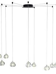 Недорогие -современная люстра 9 ламп подвесной светильник подвесной потолочный светильник кристалл g4 светодиодные лампы включены для столовой гостиной офис кафе комната