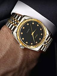 Недорогие -Муж. Нержавеющая сталь Кварцевый Формальный Стильные Нержавеющая сталь Серебристый металл / Золотистый 30 m Защита от влаги Творчество Повседневные часы Аналоговый На каждый день Мода -  / Один год