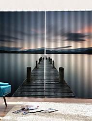 Недорогие -мечтательный пейзаж оконные шторы декоративные шторы затемнение утолщение теплоизоляция фон спальня / гостиная / гостиница