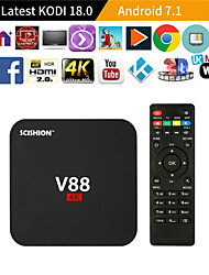 Недорогие -V88 RK 3229 Смарт ТВ-приставка 1Gb8GB Android 5.1 ТВ 4K приставка Wi-Fi Box мини для Smart TV с 4 USB-портом для 3D-фильм