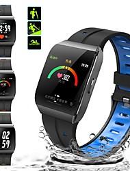 Недорогие -x1 умные часы цветной экран ip68 водонепроницаемый монитор сердечного ритма артериального давления пульт дистанционного управления камера браслет для android ios