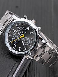 Недорогие -Geneva Для пары Нарядные часы Кварцевый Формальный Нержавеющая сталь Серебристый металл Повседневные часы Аналоговый Мода - Черный Серебряный Коричневый Один год Срок службы батареи