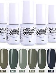 economico -smalto 6 colori a colori 127-132 xyp soak-off uv / led smalto per unghie colori solidi per unghie