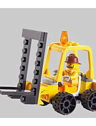 Недорогие -SHIBIAO Конструкторы Конструкторы Игрушки Обучающая игрушка 37 pcs Транспорт Армия Автопогрузчик совместимый Legoing Новый дизайн Своими руками Классика Автопогрузчик Мальчики Девочки Игрушки Подарок