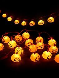 Недорогие -Хэллоуин тыква огни 3м 16 светодиодные украшения джек o фонарь струнные фонари с питанием от батареи тыква фонарь декор для Хэллоуина благодарения
