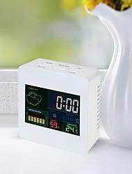 Недорогие -ts-s61 часы с цветным экраном часы в помещении и гигрометр с календарем / будильником 12/24 часа настольные часы