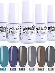 Недорогие -лак для ногтей 6 шт. цвет 217-222 xyp выдержка уф / светодиод гель лак для ногтей сплошной цвет лак для ногтей наборы