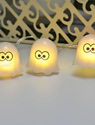 Недорогие -3 м творческий милый призрак строки огни 20 светодиодов теплый белый хэллоуин ну вечеринку декоративные 3 в 1 комплект