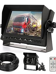 Недорогие -Комплект камеры заднего вида с 7 ЖК-монитором&усилитель; 120 широкоугольная камера заднего вида ip68 водонепроницаемая 18ir камера ночного видения заднего хода для грузовика прицеп автобус