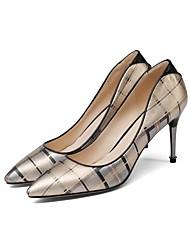 Недорогие -Жен. Обувь на каблуках На шпильке Наппа Leather Весна Золотой
