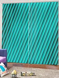 Недорогие -Горячая распродажа низкая цена домашнего декора 3d печать роскошные шторы затемнения 100% полиэстер тканевые шторы / офис гостиная