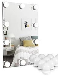 Недорогие -изменить свет белый / холодный белый / теплый белый светодиод ночные огни голливудские зеркало для макияжа фар usb зеркало для макияжа фары 5v ванная комната декоративные светильники 5м 10 светодиодов
