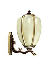 Недорогие -Открытый настенный светильник водонепроницаемый ржавый настенный фонарь золото антикварные бра для сада патио квадратный деревенский наружные светильники