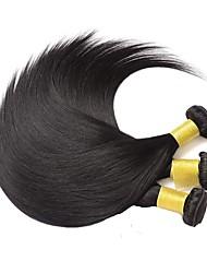 voordelige -3 bundels Braziliaans haar Recht Echt haar 100% Remy haarweefselbundels Helm Menselijk haar weeft Verlenging 8-28 inch Natuurlijke Kleur Menselijk haar weeft Veiligheid Cosplay Gemakkelijke dressing