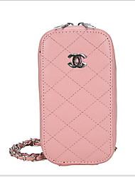 Недорогие -Жен. Молнии / Цепочки PU Мобильный телефон сумка Сплошной цвет Черный / Белый / Розовый