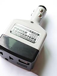Недорогие -преобразователь питания автомобиля инвертор 12 В / 24 В для 220 В адаптер зарядного устройства гнездо прикуривателя powerusb преобразователь